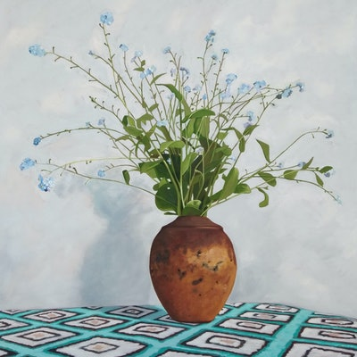 (CreativeWork) Forget me not by Sandra Jenkins. #<Filter:0x00007f97c055e060>. Shop online at Bluethumb.