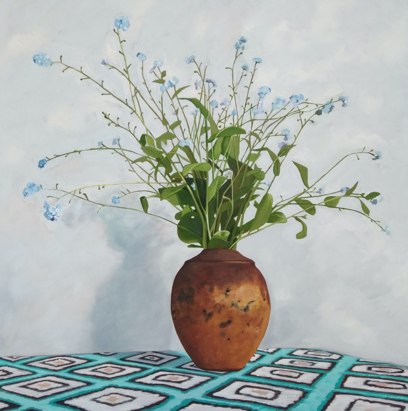 (CreativeWork) Forget me not by Sandra Jenkins. #<Filter:0x00007f59e52b69c0>. Shop online at Bluethumb.