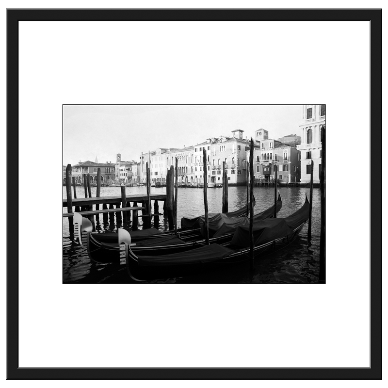 (CreativeWork) THE GONDOLAS OF VENICE - FRAMED 89x87cm Ed. 2 of 20 by Geoff Birrell. Photograph. Shop online at Bluethumb.