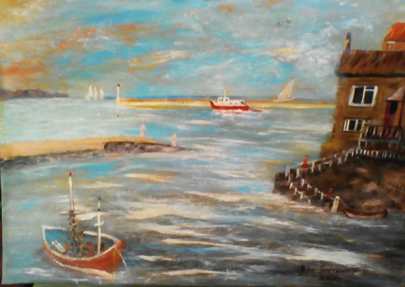 (CreativeWork) Harbour Swell by Robin Sweeney. Acrylic Paint. Shop online at Bluethumb.