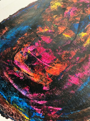 (CreativeWork) Rebirth, N1 by Sotieles Art. Acrylic Paint. Shop online at Bluethumb.
