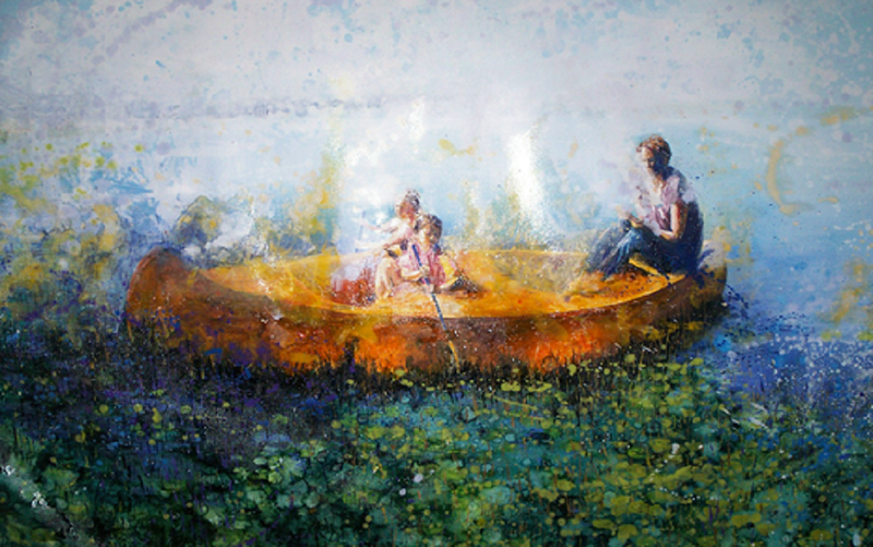 (CreativeWork) Lovely people by Kirsten Button. Oil Paint. Shop online at Bluethumb.