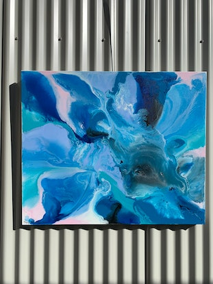 (CreativeWork) Thermal springs by Tracy Knowles-Sherry. Acrylic Paint. Shop online at Bluethumb.