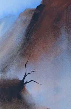 (CreativeWork) Holding On by Scott Swinson. Watercolour Paint. Shop online at Bluethumb.
