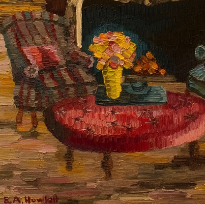 (CreativeWork) The Magenta Room  by Elisabeth Howlett. Oil Paint. Shop online at Bluethumb.