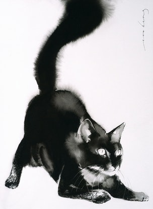 (CreativeWork) Ready Cat Go by Soo Beng Lim. Drawings. Shop online at Bluethumb.