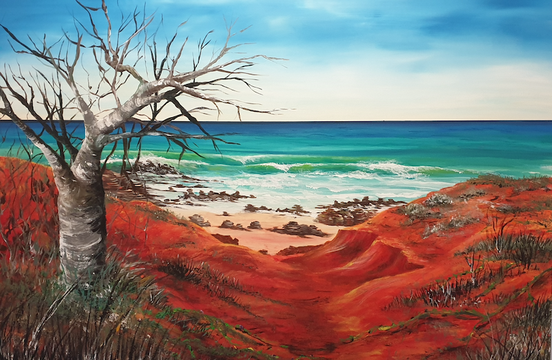 (CreativeWork) Kimberley Coast by Heather Murchie. Acrylic Paint. Shop online at Bluethumb.
