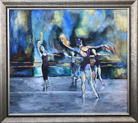 (CreativeWork) At two Ballerinas by Kirsten Button. Oil Paint. Shop online at Bluethumb.