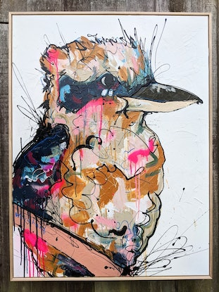 (CreativeWork) The valley below - commission by Aidan Weichard. Mixed Media. Shop online at Bluethumb.