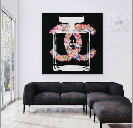 (CreativeWork) CC Chanel by Shane Bowden. Acrylic Paint. Shop online at Bluethumb.