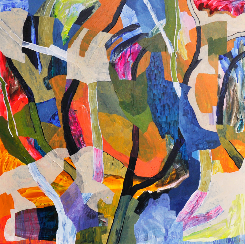 (CreativeWork) Shadow Branches by Christopher de Hoog. Acrylic Paint. Shop online at Bluethumb.