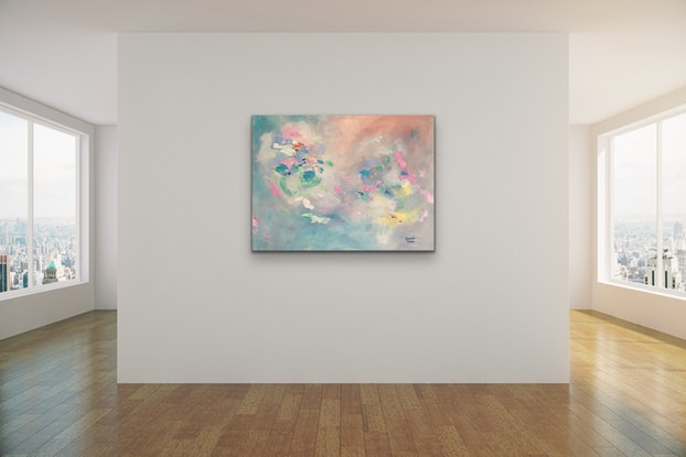 (CreativeWork) White Opal by Meredith Howse. Acrylic Paint. Shop online at Bluethumb.