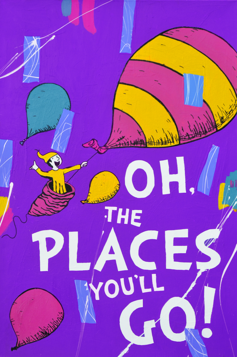 (CreativeWork) Oh The Places You'll Go by Ben Tankard. acrylic-painting. Shop online at Bluethumb.