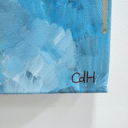 (CreativeWork) Creamy Sky by Christopher de Hoog. Acrylic Paint. Shop online at Bluethumb.