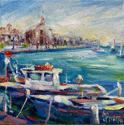 (CreativeWork) Mediterranean memories by Ivana Pinaffo. Acrylic Paint. Shop online at Bluethumb.