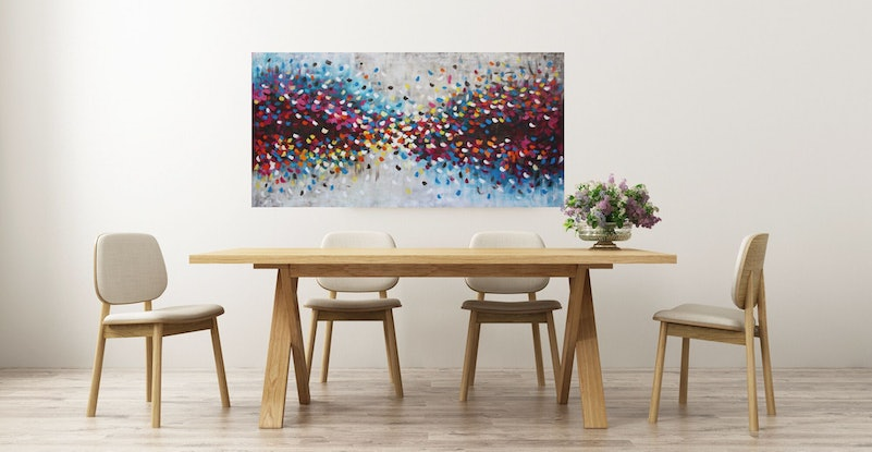 (CreativeWork) A Love So Strong by Belinda Nadwie. Oil Paint. Shop online at Bluethumb.