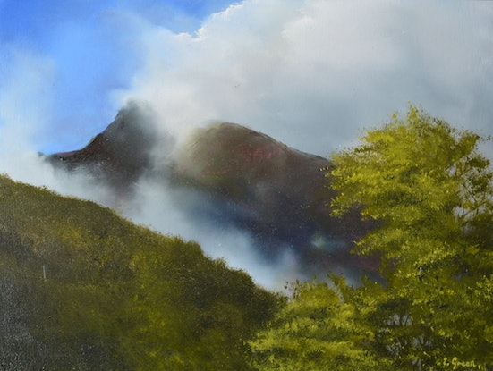 (CreativeWork) On the Way to Milford Sound by Elaine Green. Oil Paint. Shop online at Bluethumb.
