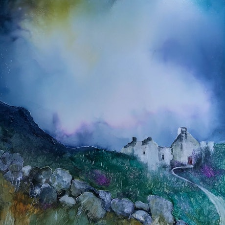 (CreativeWork) Mull of Kintyre by Meg Lewer. Mixed Media. Shop online at Bluethumb.