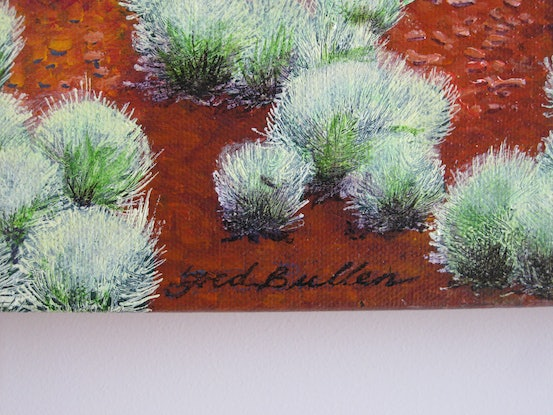 (CreativeWork) My Country - My Heart by Fred Bullen. Acrylic Paint. Shop online at Bluethumb.