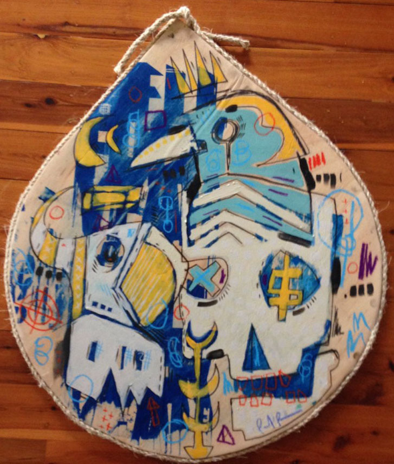 (CreativeWork) only backwards by paul parker. Mixed Media. Shop online at Bluethumb.