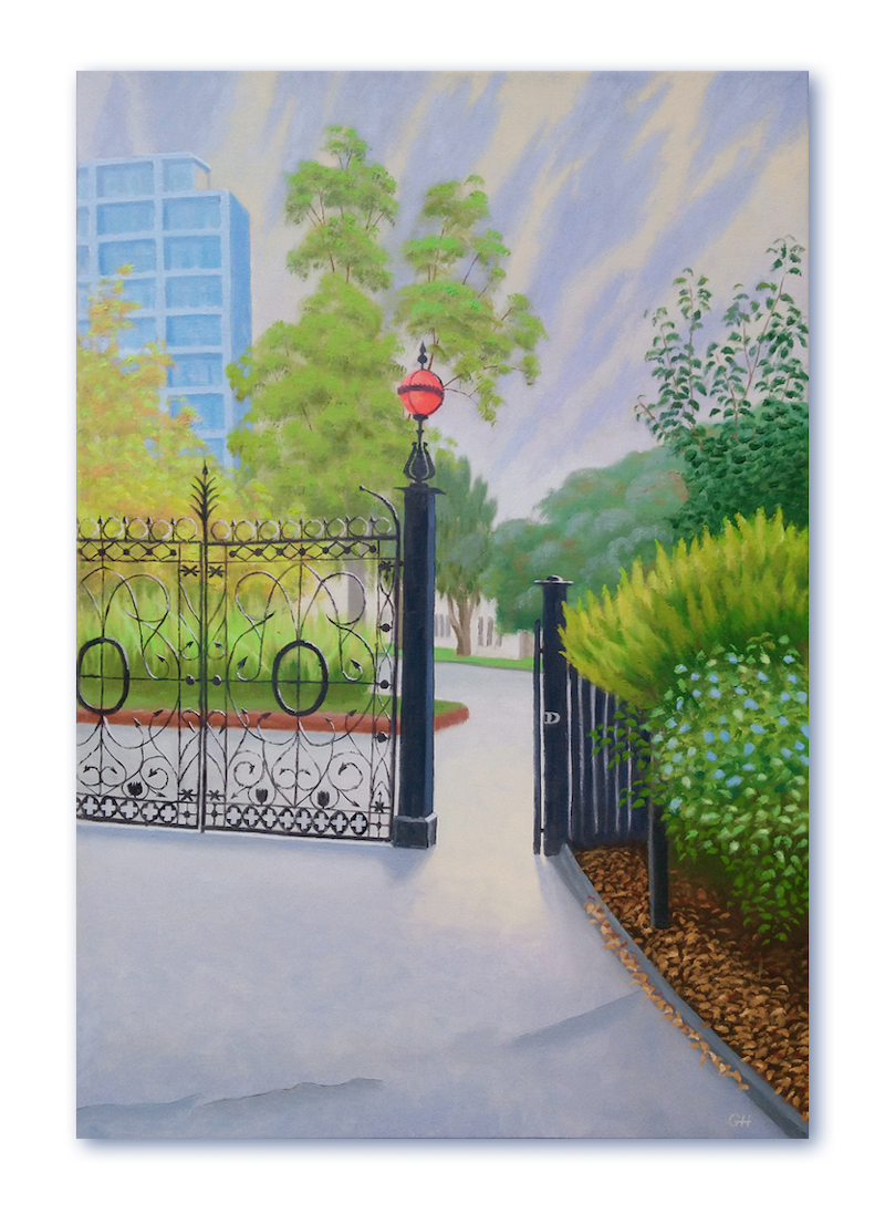 (CreativeWork) D Gate by Geoff Harrison. Oil Paint. Shop online at Bluethumb.