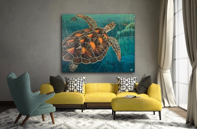 (CreativeWork) Tropical waters  by Min Philpot. #<Filter:0x00007f0bd83e9b40>. Shop online at Bluethumb.