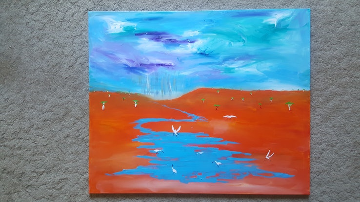 (CreativeWork) After The Drought by Little Heath. Oil Paint. Shop online at Bluethumb.