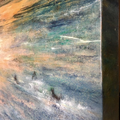 (CreativeWork) Warm Glow of Summer by Eva Horvath. Oil Paint. Shop online at Bluethumb.