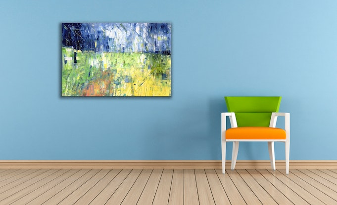 (CreativeWork) Summer Hays by David Clare. Oil Paint. Shop online at Bluethumb.