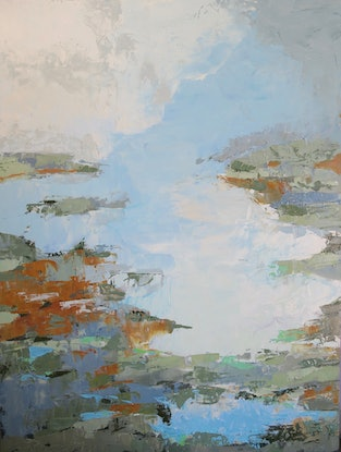 (CreativeWork) Between Heaven and Earth by Barbara Aroney. Oil Paint. Shop online at Bluethumb.