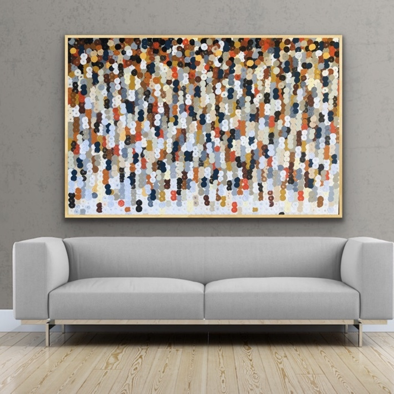 (CreativeWork) Sahara 152x102 framed large abstract  by Sophie Lawrence. Acrylic Paint. Shop online at Bluethumb.