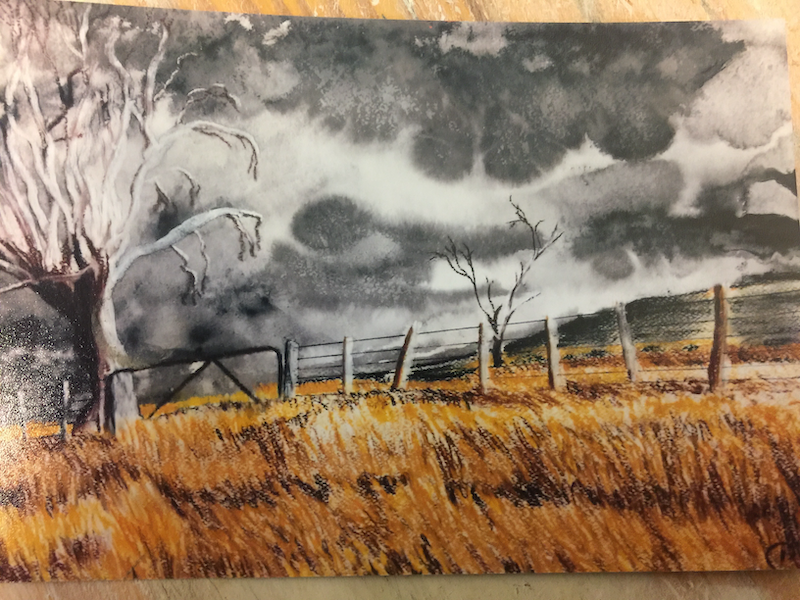 (CreativeWork) Storm Approaching by Christopher Steele. Drawings. Shop online at Bluethumb.