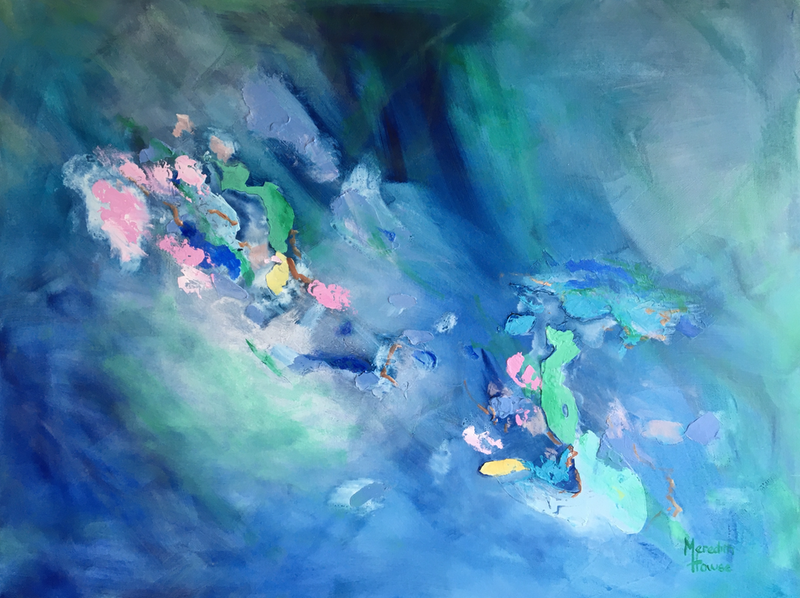(CreativeWork) Pink Opalescent  by Meredith Howse. Acrylic Paint. Shop online at Bluethumb.