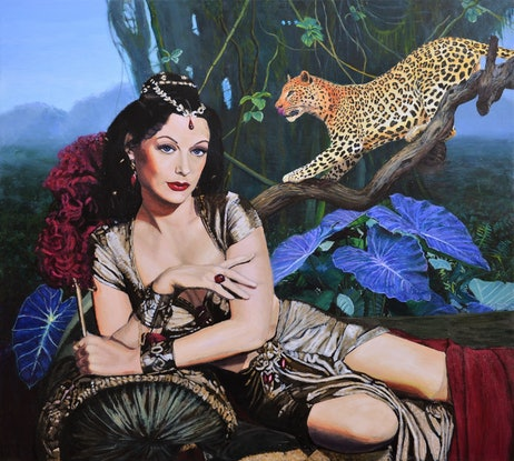 (CreativeWork) Jungle Princess by Jane Ianniello. Acrylic Paint. Shop online at Bluethumb.