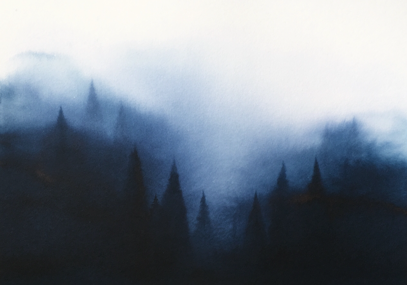 (CreativeWork) Frahms Sound XI by Casey Freeman. Watercolour Paint. Shop online at Bluethumb.