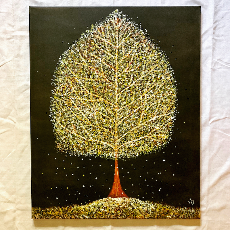 (CreativeWork) The Tree of Summer by Abigail Beck. Acrylic Paint. Shop online at Bluethumb.