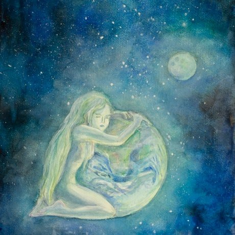 (CreativeWork) Hugs to the Earth by Dasha Zaytseva. Watercolour Paint. Shop online at Bluethumb.