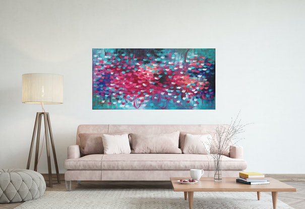 (CreativeWork) Cherry Blossom 3 by Belinda Nadwie. Oil Paint. Shop online at Bluethumb.