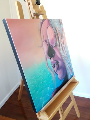 (CreativeWork) Salty Breeze by Emma Duck. Oil Paint. Shop online at Bluethumb.