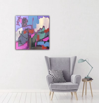 (CreativeWork) Living in Harmony by Kathy Best. Acrylic Paint. Shop online at Bluethumb.