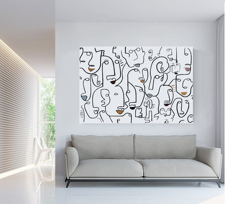 (CreativeWork) ' Coffee Mania '  Reserved Commission for Mrs Bhasin by Chris Cox. Acrylic Paint. Shop online at Bluethumb.