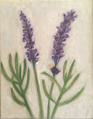 (CreativeWork) Lavender by Tara Mai. Acrylic Paint. Shop online at Bluethumb.