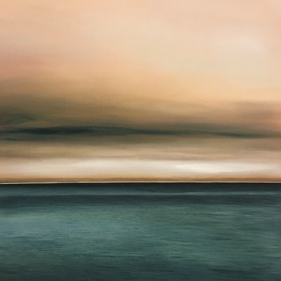 (CreativeWork) Autumn sea by Preston Rae. Acrylic Paint. Shop online at Bluethumb.
