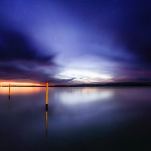 (CreativeWork) Port Welshpool twilight Ed. 2 of 4 by Piers Buxton. photograph. Shop online at Bluethumb.