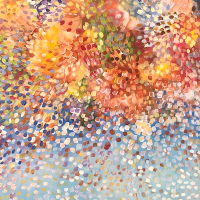 (CreativeWork) Spring Bouquet  by Theo Papathomas. acrylic-painting. Shop online at Bluethumb.
