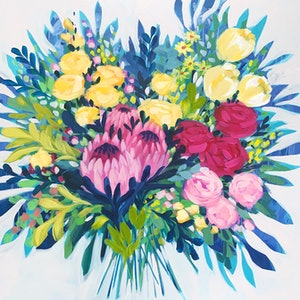 (CreativeWork) Brings me Joy  by Clair Bremner. acrylic-painting. Shop online at Bluethumb.