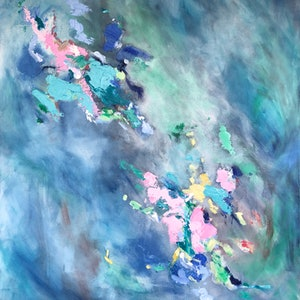(CreativeWork) Blue Opal by Meredith Howse. acrylic-painting. Shop online at Bluethumb.