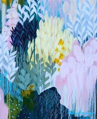(CreativeWork) Grow Something Wild by Clair Bremner. Acrylic Paint. Shop online at Bluethumb.