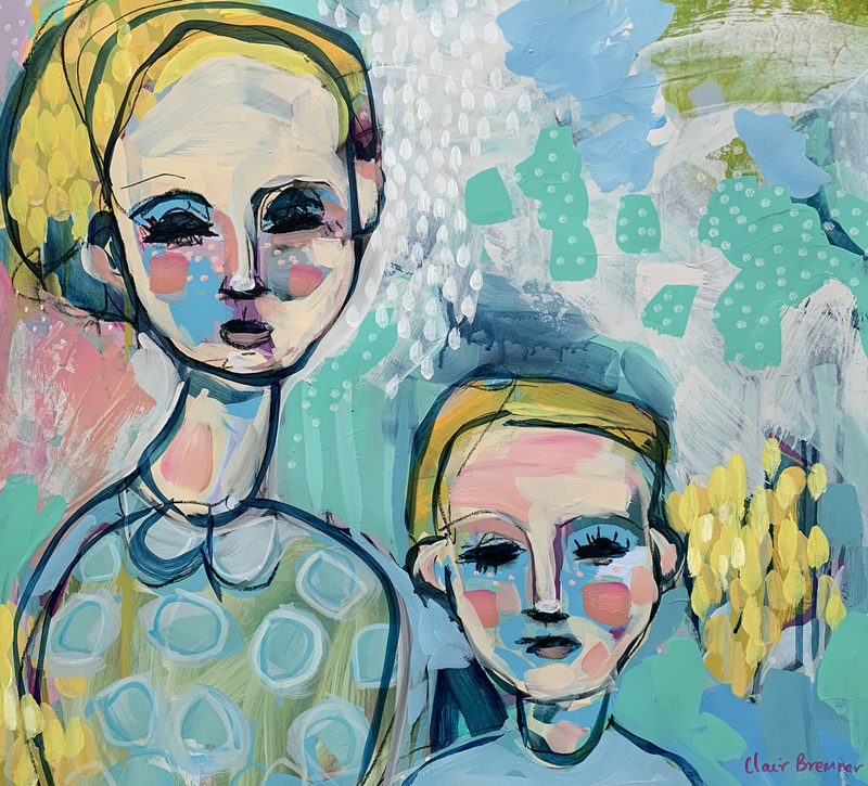 (CreativeWork) Siblings by Clair Bremner. Acrylic Paint. Shop online at Bluethumb.