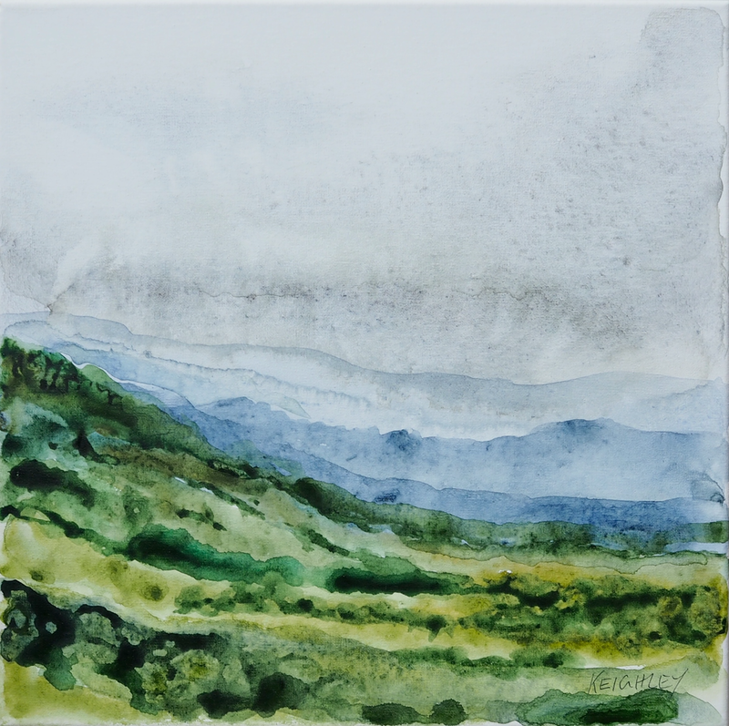 (CreativeWork) 'Turn Back Time' Small watercolour landscape by Michelle Keighley. #<Filter:0x0000558dba49a7a8>. Shop online at Bluethumb.